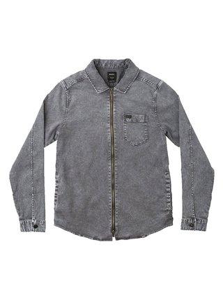 RVCA DO RIGHT JACKE RVCA BLACK pánské košile s dlouhým rukávem - šedá