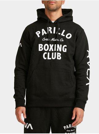RVCA PARILLO BOXING CLUB black mikiny přes hlavu pánská - černá