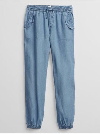 Modré holčičí dětské kalhoty GAP v-cargo jogger