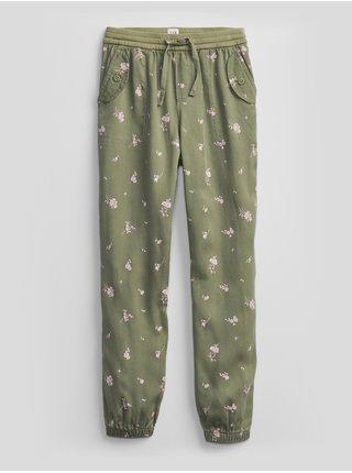 Zelené holčičí dětské kalhoty GAP v-cargo jogger