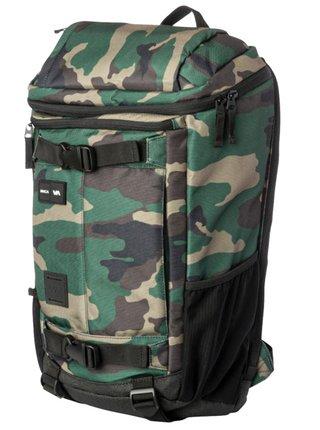 RVCA VOYAGE III CAMO batoh do školy - zelená