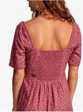 RVCA PEACHY PLUM BERRY krátké letní šaty - bílá