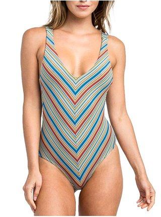 RVCA SIXTEENTH ST 1 PIECE MULTI jednodílné plavky - barevné