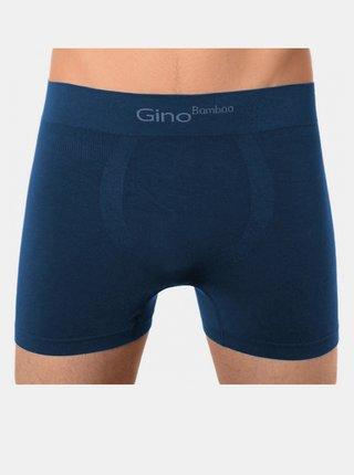 Pánské boxerky Gino bezešvé bambusové petrol