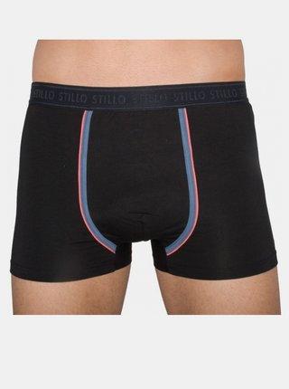 Pánské boxerky Stillo černé s šedým pruhem