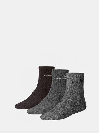 3PACK ponožky Puma vícebarevné