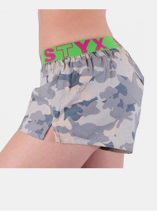 Dámské trenky Styx art sportovní guma šedý maskáč