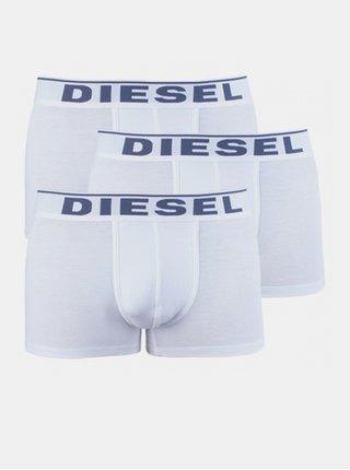 3PACK pánské boxerky Diesel bílé