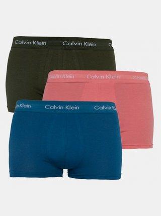 3PACK pánské boxerky Calvin Klein vícebarevné