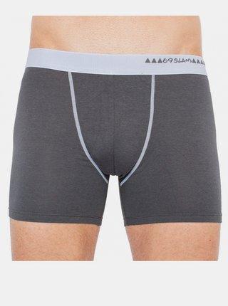 Pánské boxerky 69SLAM fit bamboo dark grey