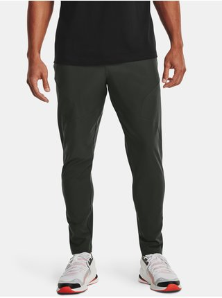 Kalhoty Under Armour UNSTOPPABLE TAPERED PANTS - zelená