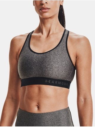 Podprsenka Under Armour Armour Mid Keyhole Heather Bra - šedá