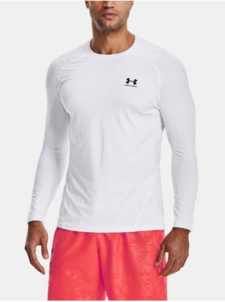 Tričko Under Armour UA HG Armour Fitted LS  - bílá