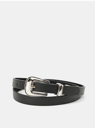 Černý kožený pásek Hailys