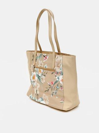 Béžová kvetovaná kabelka Zabaione