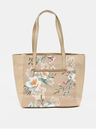 Béžová květovaná kabelka Zabaione