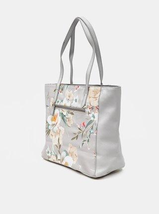 Světle šedá květovaná kabelka Zabaione