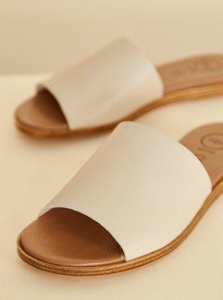 Béžové kožené pantofle OJJU