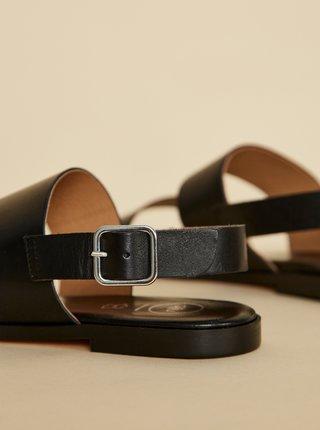 Černé kožené sandály OJJU