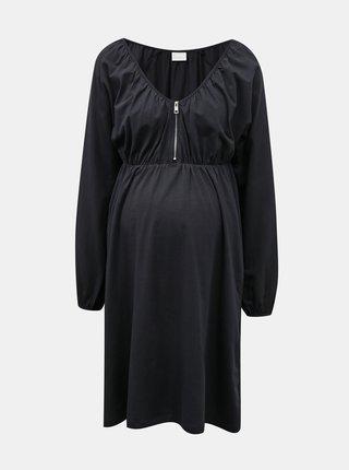 Tmavomodré tehotenské šaty Mama.licious Regina