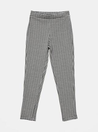 Bielo-čierne dievčenské kockované nohavice Hailys