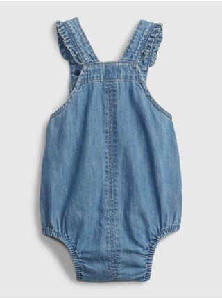 Baby overal denim bubble one-piece Modrá