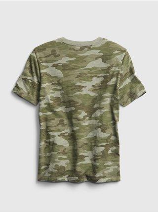 Zelené klučičí dětské tričko GAP pocket tee 2