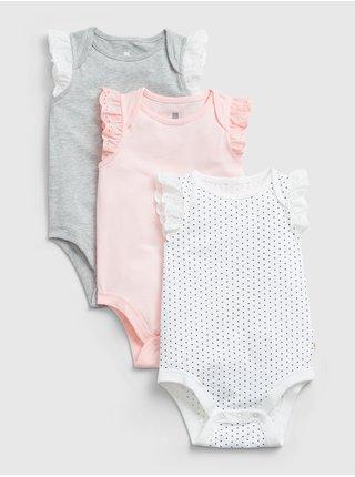 Barevné holčičí baby body GAP organic mix and match, 3ks