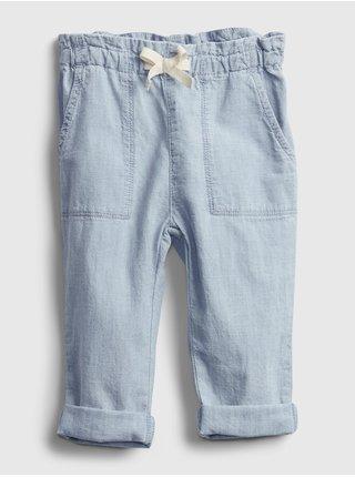 Modré holčičí baby džíny GAP easy pull-on jeans