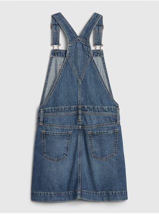 Modrá holčičí dětská džínová sukně s laclem GAP overal denim skirtall