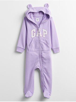 Fialový holčičí baby overal GAP Logo v-ftd