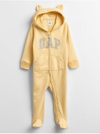 Žlutý klučičí baby overal GAP Logo v-ftd