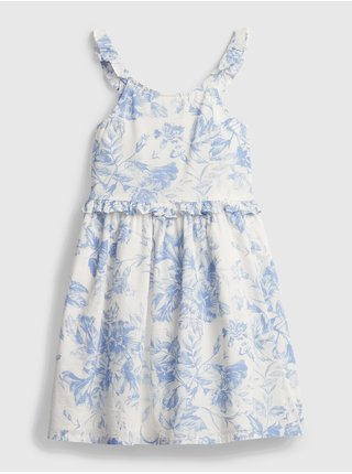 Detské šaty wrap ruffle dress Biela