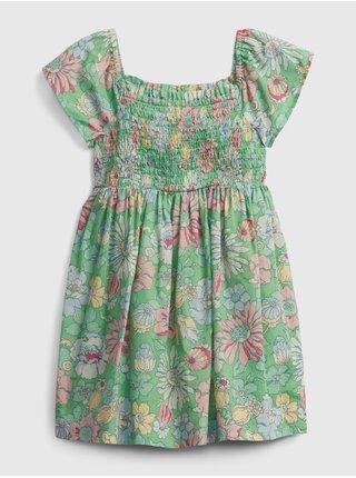 Detské šaty smocked floral dress Zelená