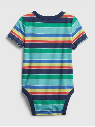 Baby body organic cotton mix and match stripe bodysuit Farebná