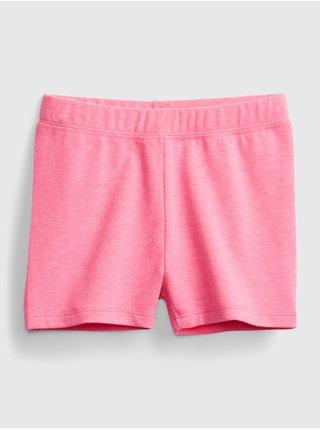Růžové holčičí dětské kraťasy GAP spring tumble