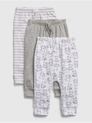 Baby tepláky print pull-on pants, 3ks Farebná