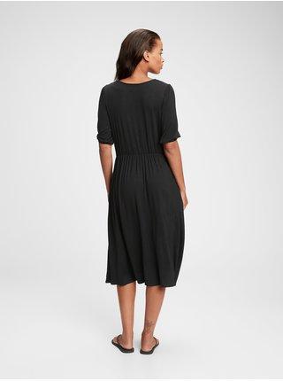 Černé dámské šaty GAP blouson slv ma