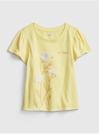 Žluté holčičí dětské tričko GAP est gr