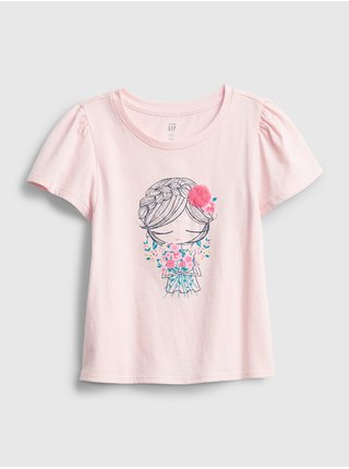 Detské tričko bea graphic t-shirt Ružová