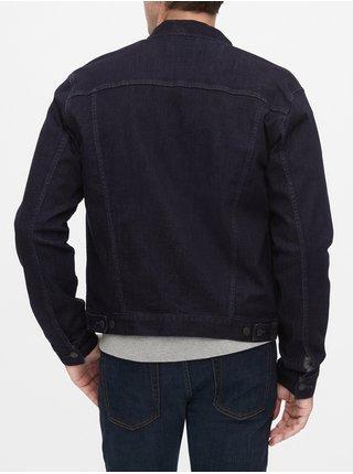 Černá pánská džínová bunda GAP v-flex denim icon dark tint