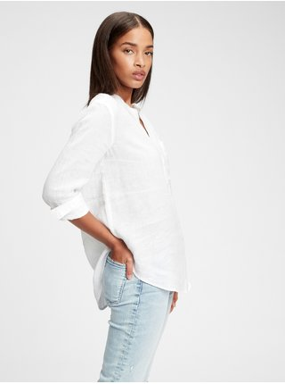 Bílá dámská košile GAP ls linen pkt