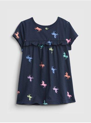 Modré holčičí dětské tričko GAP toddler mix and match t-shirt