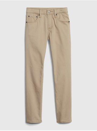 Béžové klučičí dětské džíny GAP soft wear slim with stretch