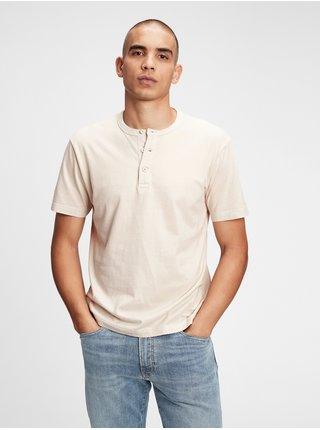 Šedé pánské tričko GAP ss sft henley
