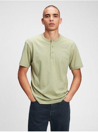 Zelené pánské tričko GAP ss sft henley