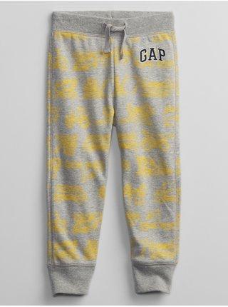Žluté klučičí dětské tepláky GAP Logo v-ft prt jg