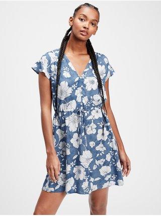 Šaty flutter sleeve dress Farebná