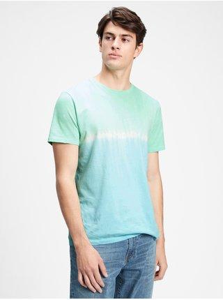 Modré pánské tričko GAP v-evd crew tie dye