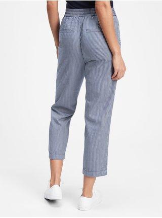 Nohavice easy straight pull-on pants Modrá